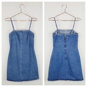 90's style vintage denim mini dress